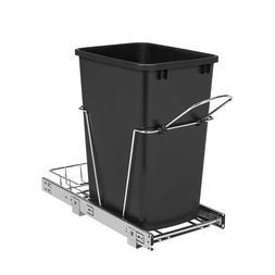 Rev-A-Shelf Pull Out Trash Can 35-Quart Plastic Soft Close P