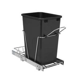 Rev-A-Shelf 35-Quart Plastic Soft Close Pull Out Trash Can