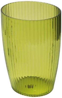 Carnation Home Fashions Ribbed Acrylic Wastebasket, Palm Gre