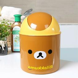 Rilakkuma Cute Desktop Mini Trash Can Covered Kitchen Living