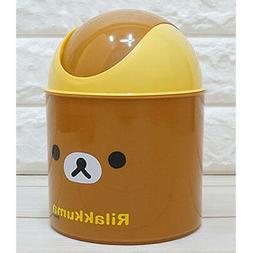 Rilakkuma Mini Push Trash Can Cute Waste Basket Interior Kid