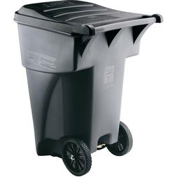BRUTE Roll Out Heavy Duty Wheeled Trash/Garbage Can -65 Gall