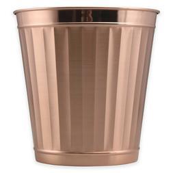 Rose Gold Metal Wastebasket Steel Trash Can Bathroom Kitchen