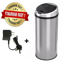 Round Automatic Touch-free Sensor Stainless Steel Trash Can