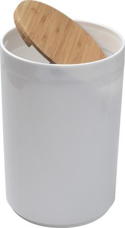 Evideco Round Bath Floor Trash Can PADANG Waste Bin Bamboo T