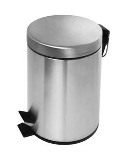 Estilo Round Brushed Stainless Steel Step Trash Can 5L - Fin