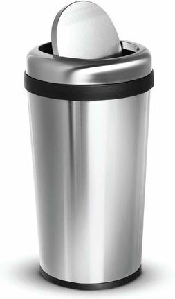 Home Zone Living Round Kitchen Trash Can, 12G/45L with Swing