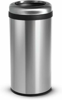 Home Zone Living Round Trash Can, 15.8G/60L Commerical Style