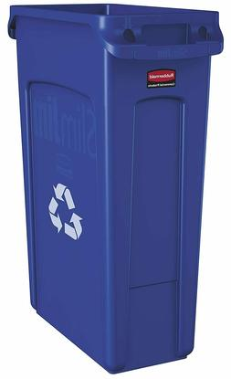 23Gl Plastic Recycling Bin With Venting Channels Trash Can I