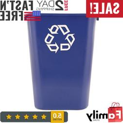 Rubbermaid Commercial Recycling Bin Plastic Container Trash