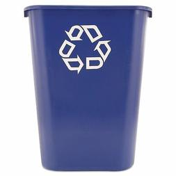 Rubbermaid Recycling Container Recycle Trash Can Blue 41 Qua