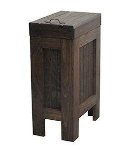 BuffaloWood Shop Rustic Wood Trash Bin Kitchen Trash Can Woo