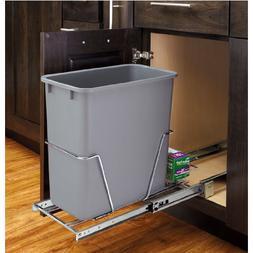 Rev-a-Shelf RV-8PB-CR S Single 20 Quart Pull-Out Waste Conta