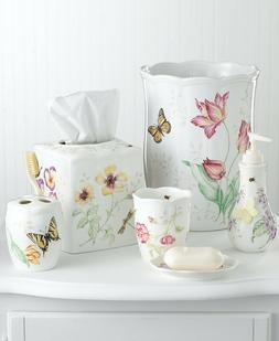 "SALE  LENOX ""Butterfly Meadow"" DEAL OF THE DAY Trash Can whi"