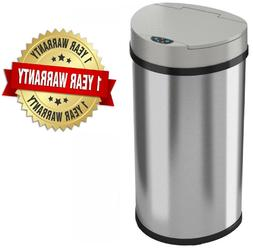 Semi-Round Extra-Wide Opening Touchless Sensor Trash Can Kit