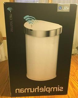 simplehuman 45L semi-Round Sensor can, 45 L/11.8 Gallon, Whi