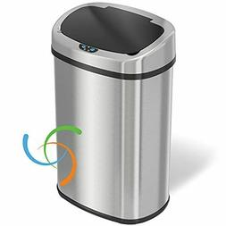 iTouchless 13 gallon Sensorcan Touchless Trash Can with Odor