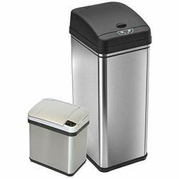 Set 13 Gallon 2.5 Gallon Deodorizer Sensor Touchless Stainle