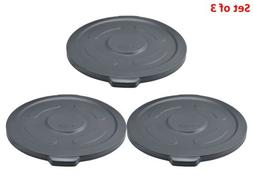 Set of 3 Plastic Trash Container Lid Garbage Can Lid Durable