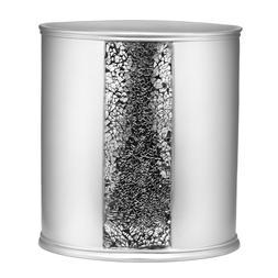 Bathroom Waste Basket Silver Modern Decor Trash Can Bin Offi