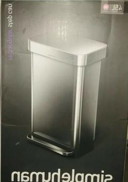 simplehuman 45 Liter / 12 Gallon Stainless Steel Rectangular