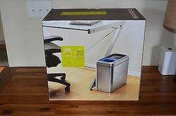 simplehuman Dual Compartment Slim Open Recycler, 20 L/5.3 Ga
