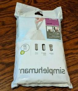 SIMPLEHUMAN Code G Custom Fit Trash Can Liner, 1 refill pack