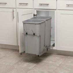 Simply Put 27-Quart Plastic Pull Out Trash Can