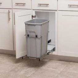 Simply Put Pull Out Trash Can 35 Qt Plastic Pantry Garbage B