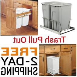 Single 20 Double 35 Qt Trash Pull-Out Waste Container Adjust