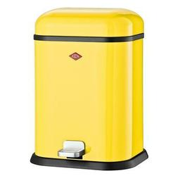 Wesco SingleBoy Cosmetic Bin Trash Can Dustbin Yellow Steel