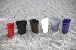 skinny polypropylene waste can