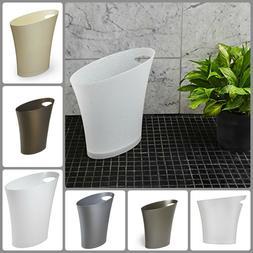 Skinny Trash Can Sleek Stylishg Bathroom Small Garbage Can K