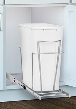 Panacea Grayline Slide-Out Single Trash Can Basket Storage,