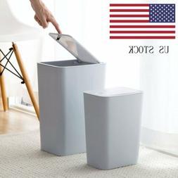 Trash Can Garbage Rubbish Bin Toilet Office Wastebasket S/L