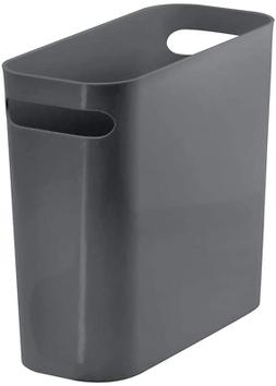 mDesign Slim Plastic Rectangular Small Trash Can Wastebasket