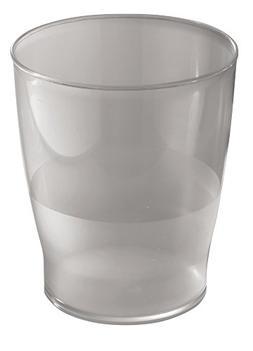 mDesign Slim Round Plastic Small Trash Can Wastebasket, Garb