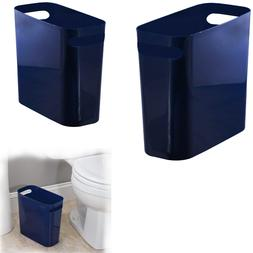 SMALL KITCHEN TRASH CAN Slim Plastic Garbage Recycle Bin For
