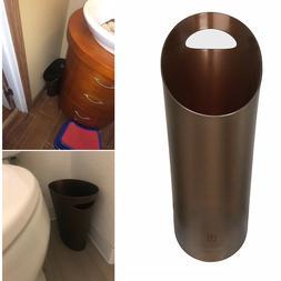 Skinny Bathroom Trash Can Small Narrow Spaces Wastebasket Ul