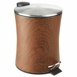 mDesign Small Round 5L Step Trash Can Garbage Bin, Removable