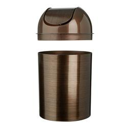 Small Trash Can With Lid Bedroom Room Bathroom Waste Swing-T