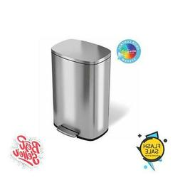 SoftStep 13.2 Gallon Stainless Steel Step Trash Can 50 Liter
