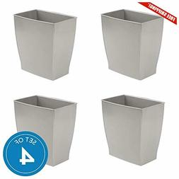 InterDesign Spa Mono Rectangular Trash Can, Waste Basket for