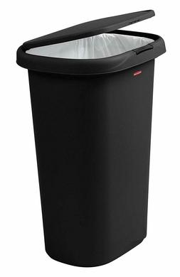 spring top lid trash can for home