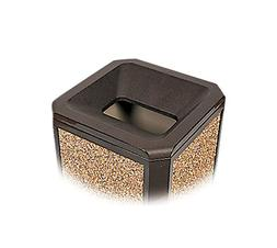 Rubbermaid 35 gal. Square Brown Trash Can, FG397200SBLE