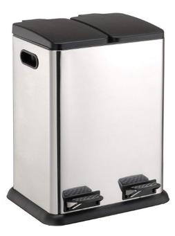 Organize It All Square Step on Recycling Bin 4942W In Home R