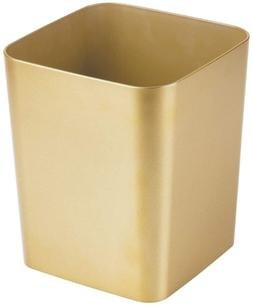 mDesign Square Shatter-Resistant Plastic Small Trash Can Was