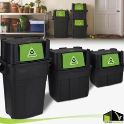 Stackable Indoor Recycling Garbage Bin Waste Trash Can PLAST