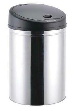 Stainless Steel Automatic Lid Trash Can Hands Free Motion Ac
