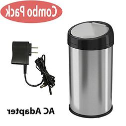 iTouchless 13 Gallon Stainless Steel Automatic Trash Can, Ro